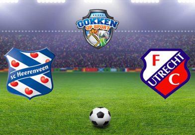 Heerenveen – FC Utrecht voorspelling