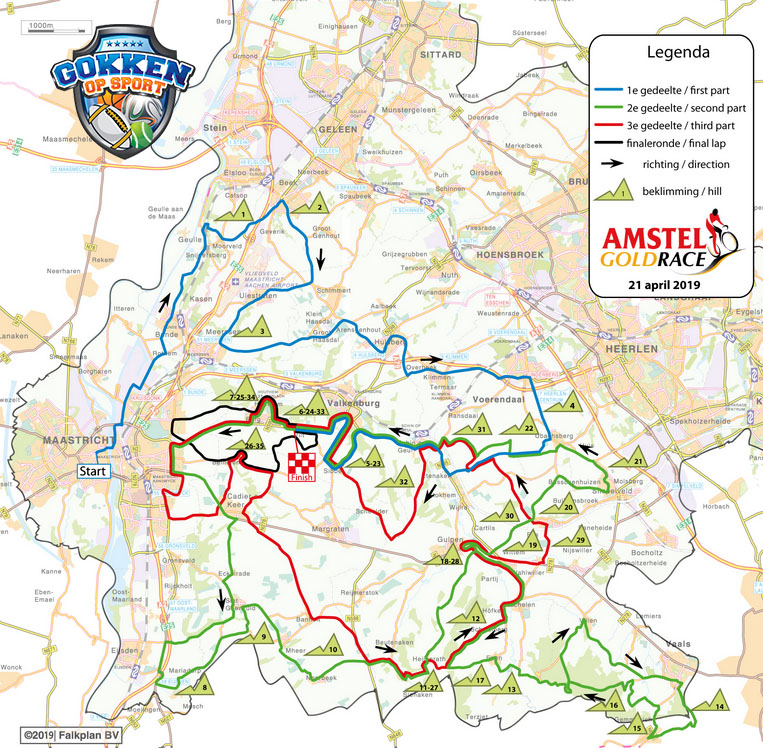 Amstel Gold Race 2019 parcours
